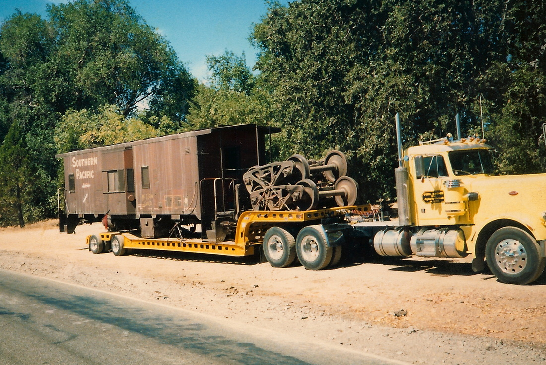 caboose on huge truck
